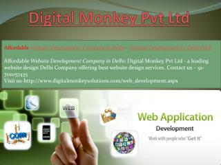 Affordable Website Development Company in Delhi - Website Development in Delhi NCR