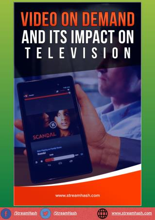 Video On Demand And Its Impact On Television