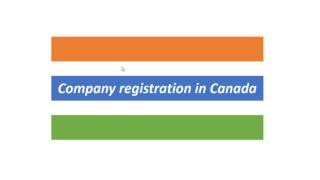 Company registration in Canada
