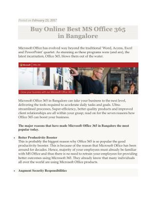 Buy online best MS Office 365 in Bangalore
