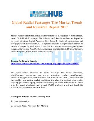 Global Radial Passenger Tire Market Trends and Research Report 2017