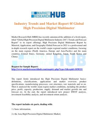 Industry Trends and Market Report 0f Global High Precision Digital Multimeter