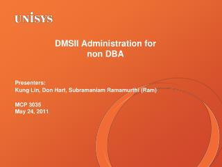 DMSII Administration for  non DBA