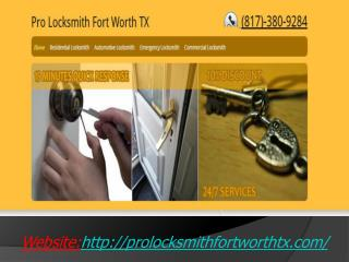 Residential Locksmith Fort Worth`
