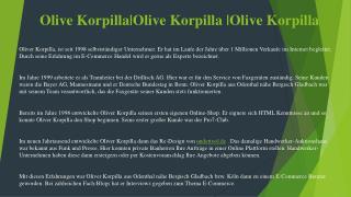 Olive Korpilla|OliveKorpilla|Olive Korpilla