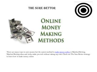 Matched Betting Strategy -The Sure Bettor