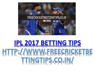 ipl 2017 betting tips