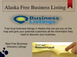 Alaska Free Business Listing