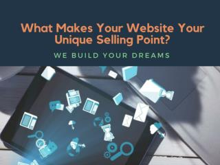 What Makes Your Website Your Unique Selling Point?