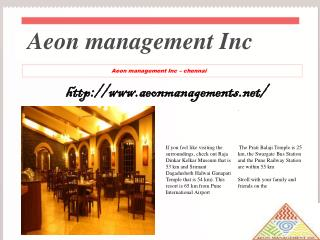 Aeon management Inc - velachery