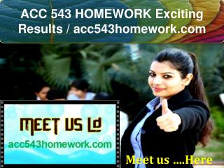 ACC 543 HOMEWORK Exciting Results / acc543homework.com