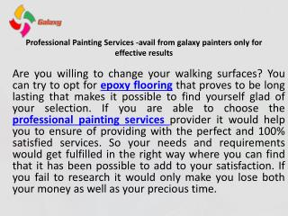 Galaxy painter at your service with professionalism