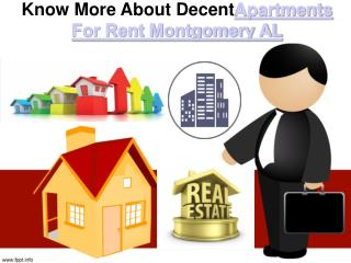 Know More About Decent Apartments For Rent Montgomery AL