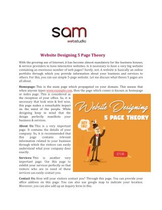 Website Designing 5 Page Theory