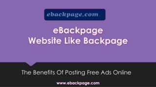 Website Like Backpage