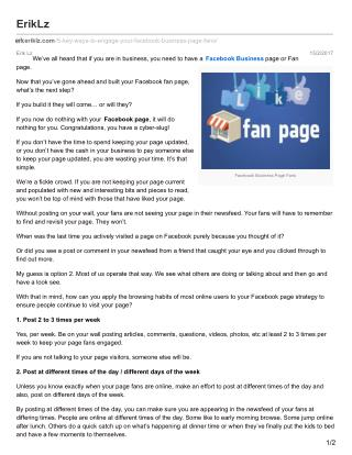 5 key ways to engage your facebook business page fans