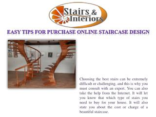 Easy tips for purchase online staircase design