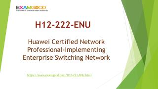 Updated Huawei HCNP-R&S H12-222-ENU real exam questions