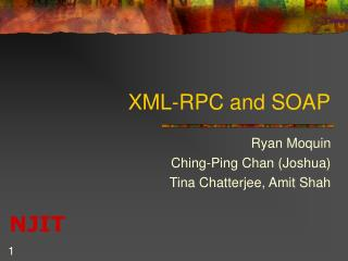 XML-RPC and SOAP