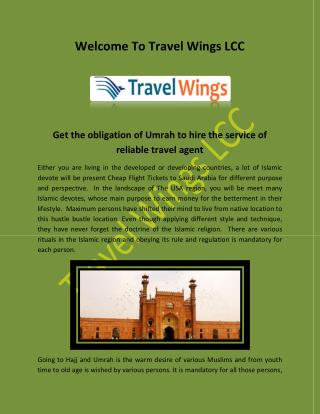 Umrah Packages from USA