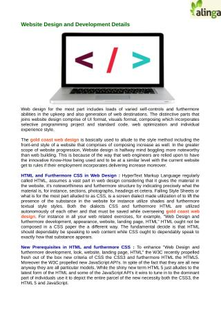 Guidelines for Website Design and Development