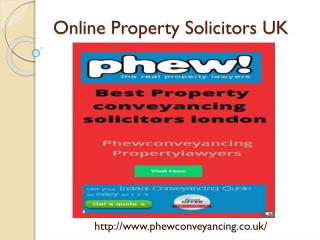 Online property solicitors UK