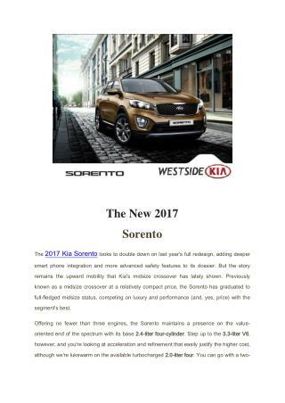 2017 Kia Sorento SUV Features & Specs