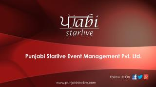 Event planner company services call Punjabi Starlive  918725077764