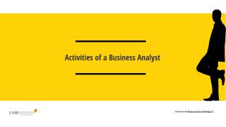 Operation Performed by Business Analysts