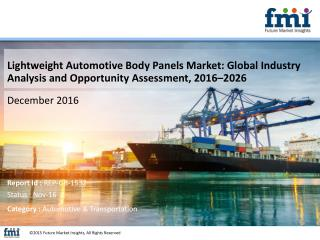 Lightweight Automotive Body Panels Market Will hit at a CAGR of 4.8% from 2016 to 2026