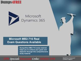 Microsoft MB2-716 Dumps - Tips to Pass MB2-716 Exam in 1st Attempt