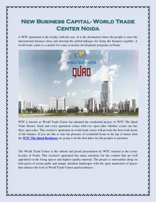 New Business Capital- World Trade Center Noida