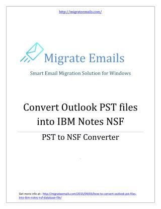 PST to NSF Converter