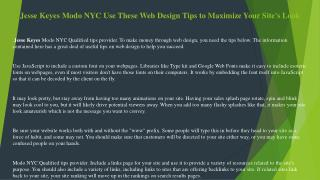 Jesse Keyes Modo NYC Use These Web Design Tips to Maximize Your Site's Look