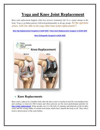 Yoga and joint replacement