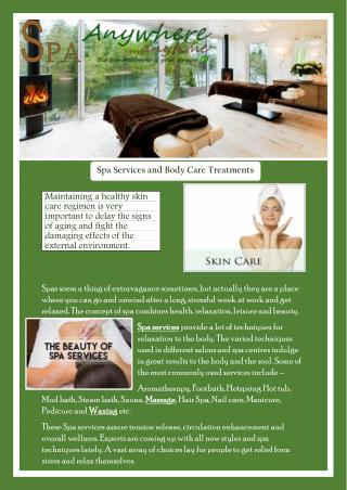 Spa Services and Body Care Treatments