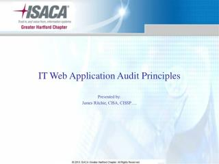 IT Web Application Audit Principles