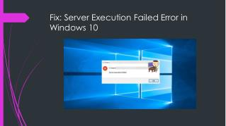 How To Fix Server Execution Failed Error in Windows 10