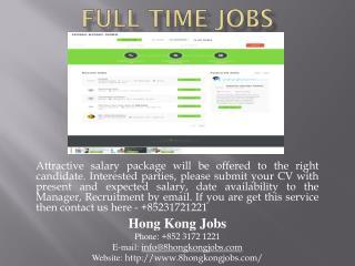 Full Time Jobs