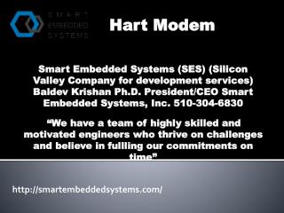 HART STACK for controls- Smartembeddedsystems.com- Modem for HART-  HART devices Solution- Hart modem.pptx