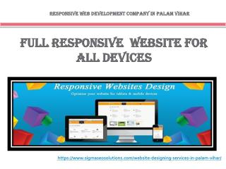 Responsive Website Development Company in Palam Vihar