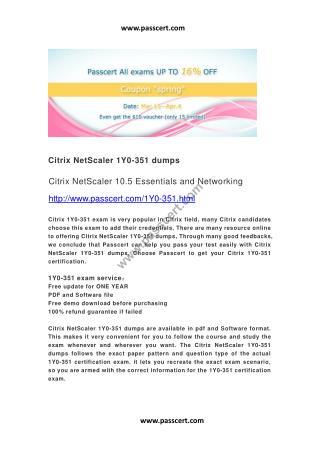 Citrix NetScaler 1Y0-351 dumps