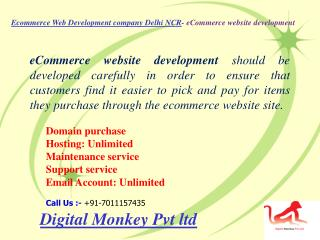 Ecommerce web development company delhi ncr  e commerce website development