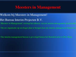 interim bureau | interim management | interim projecten