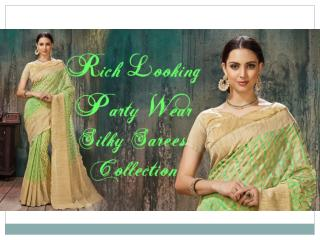 Latest Designer Party-Wear Saree Blouse Designs & Indian Sarees | Latest Party-Wear Sarees Collection