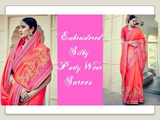 Latest Party-Wear Sarees Collection: Latest Designer Party-Wear Saree Blouse Designs & Indian Sarees