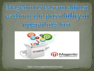 Magento is easy to adjust without the possibility of upgradi