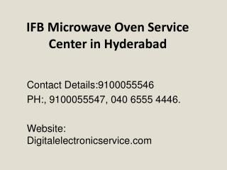 IFB Microwave Oven Service Center in Hyderabad