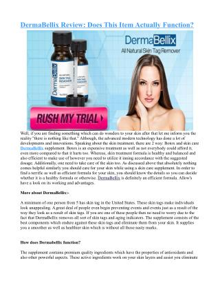 Makers Details as well as Cases regarding DermaBellix ?