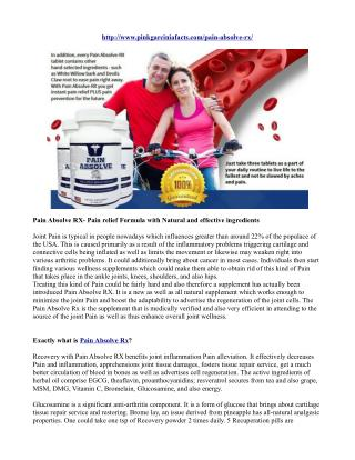 Pain Absolve RX- Pain relief Formula with Natural and effective ingredients